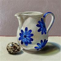 China milk jug with quail egg