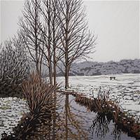 Snowy Riverbank
