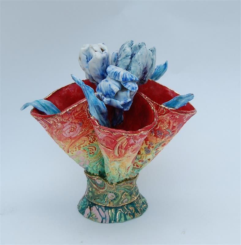The Blue and White Porcelain Tulip Vase