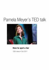 Pamela Meyer Lie detector (TED Talk)