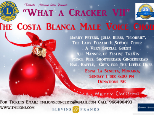"Teulada & Moraira Lions' Christmas Concert ""What a Cracker VII"""