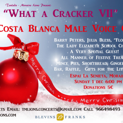 "Teulada & Moraira Lions' Christmas Concert ""What a Cracker VII"""