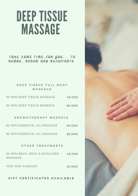 Deep Tissue Massage Javea