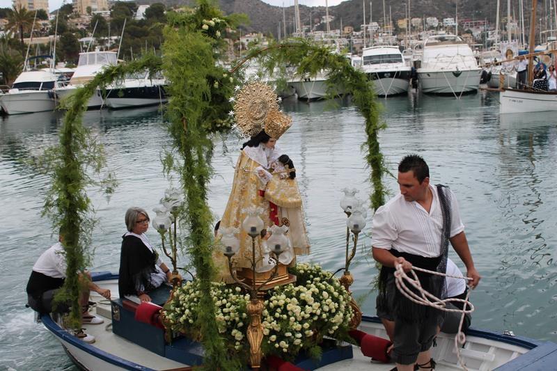"""Fiestas in Moraira: """"Virgen de Los Desamparados"""" / """"Virgen del Carmen"""" / """"Bous a la Mar"""" (July 2020)"""