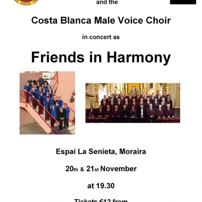 Friends in Harmony - Concert from The English Choir & Costa Blanca Male Voice Choir
