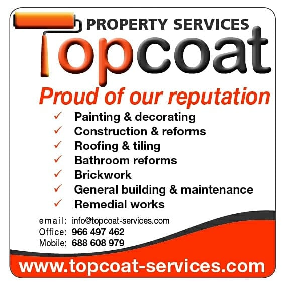 Topcoat Property Services - Villa Painting & Decorating Moraira & Javea