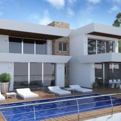 4 bed  new build villas in Benissa