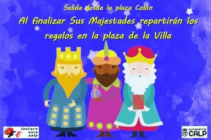 Fiestas in Calpe: Three Kings (January 2020)