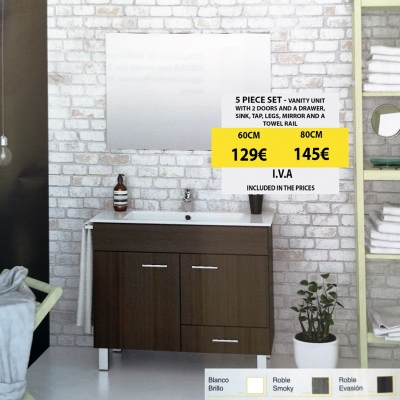 Special offer: 5 piece bathroom set only 129€ from Church Kitchens & Bathrooms