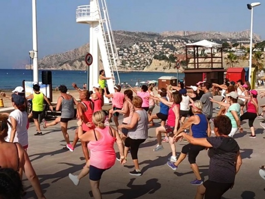 Zumba on the Beach in Calpe in August