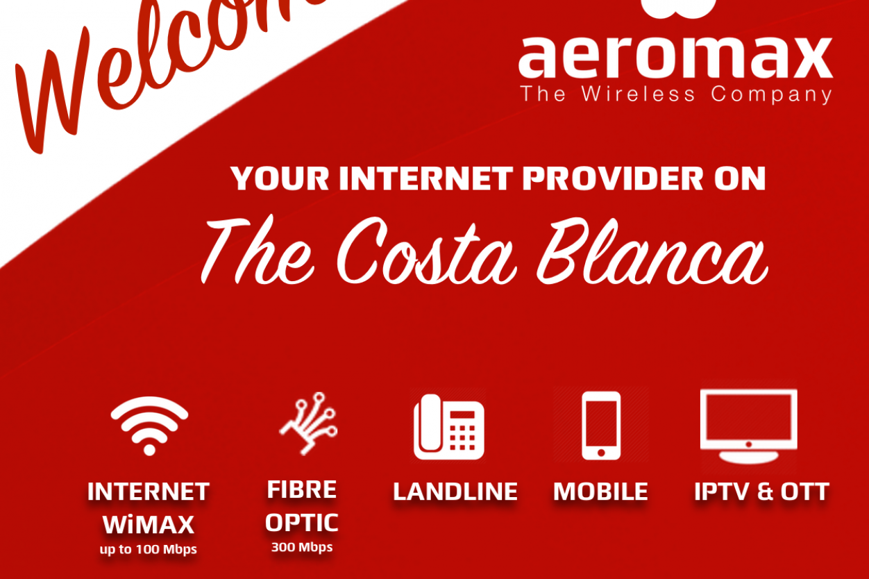 Welcome to Aeromax - your internet provider on the Costa Blanca