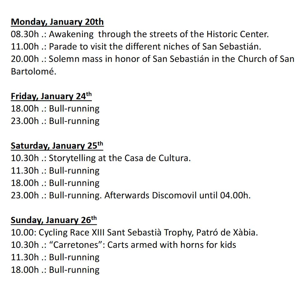 """Fiestas in Javea: """"San Sebastián"""" (January 2021)"""
