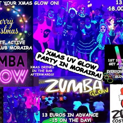 Zumba Classes in Moraira: Christmas UV Glow Party at Innate Active Tennis Club