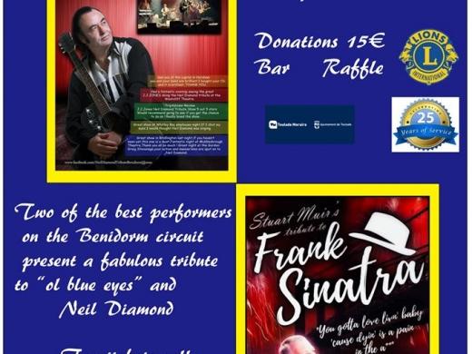 Live Tribute Concert from Teulada-Moraira Lions - Neil Diamond & Frank Sinatra