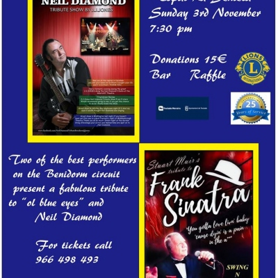 Live Tribute Concert from Teulada-Moraira Lions - Neil Diamond & Frank Sinatra