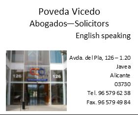 Poveda Vicedo - Abogados & Lawyers Javea
