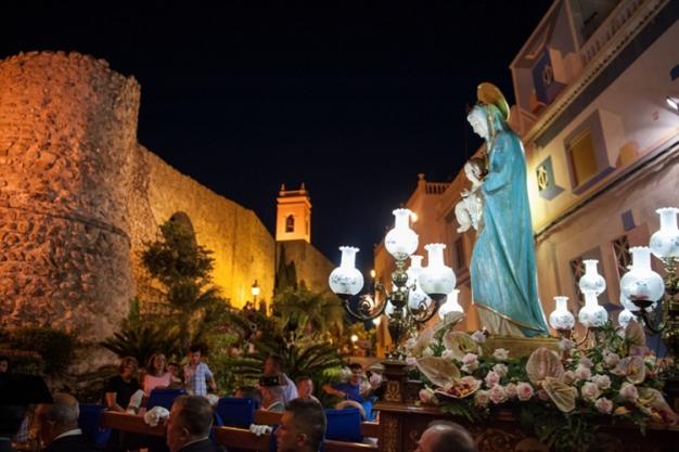 """Fiestas in Calpe: """"Virgen de las Nieves"""" (August 2019)"""