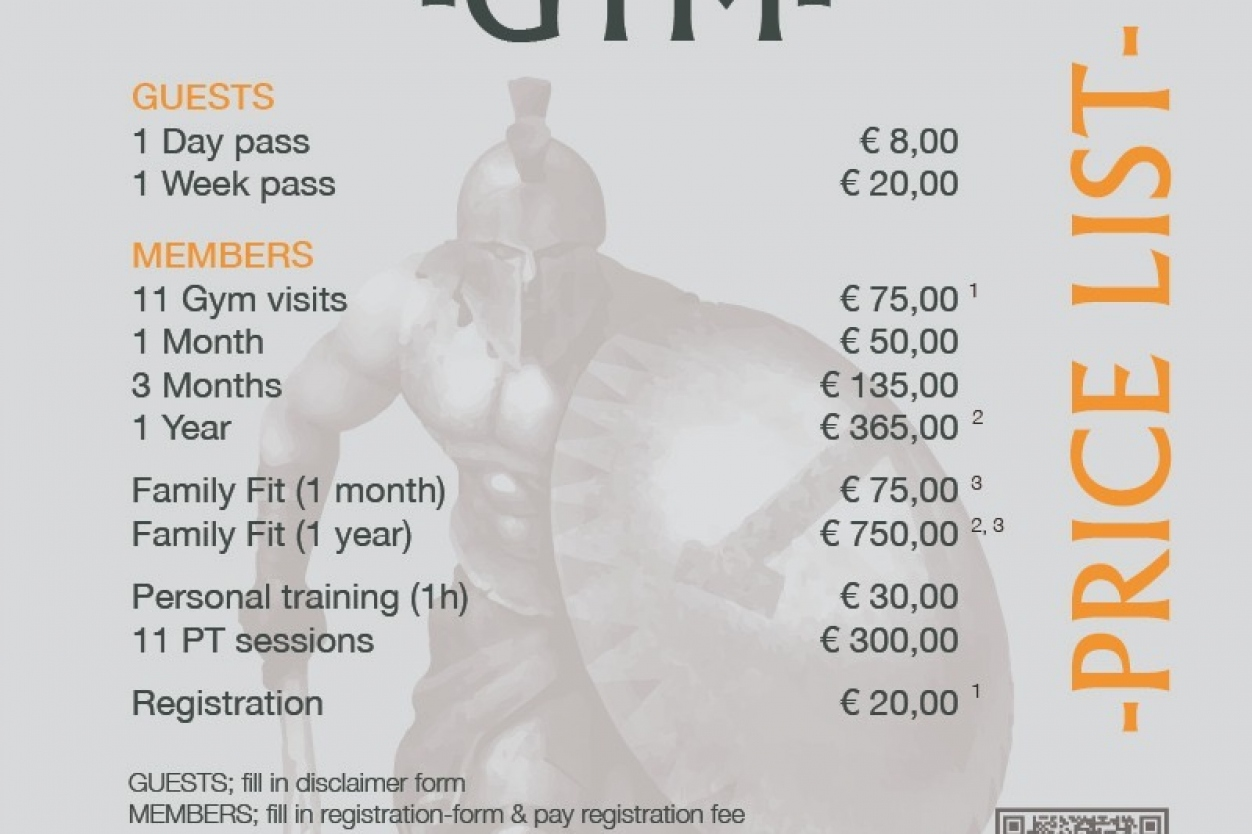 Keep fit in Javea - Day & Week Passes available at Gym Sparta Javea