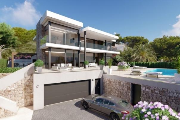 5 bed new build villa in Calpe
