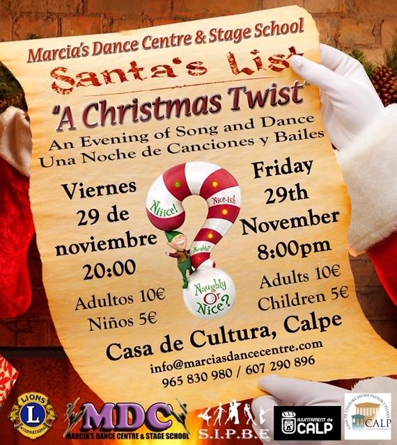 "Marcia's Dance Centre & Stage School presents ""Santa's List - A Christmas Twist"""