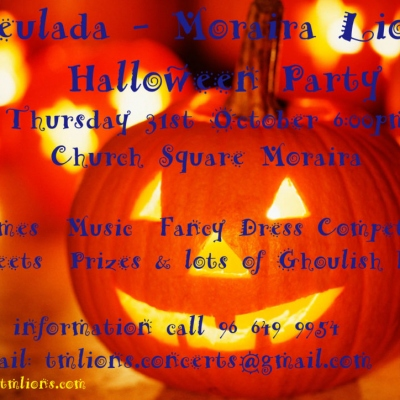 Annual Halloween Party in Moraira organised by Teulada-Moraira Lions