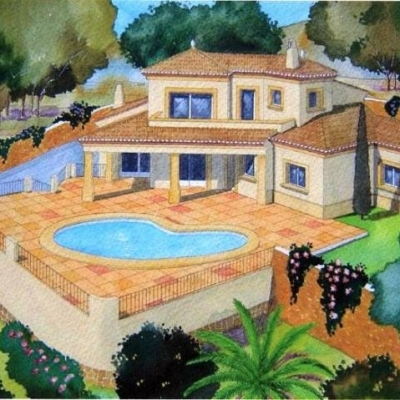 3 bed plot and build in Moraira