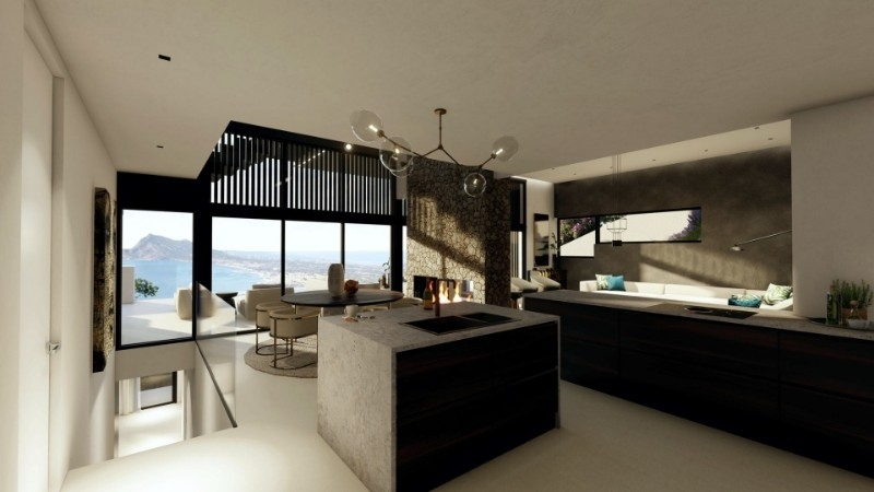 5 bed new build villa in Altea