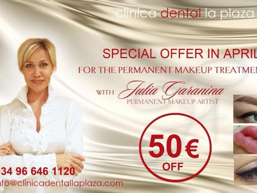 Special offer on Permanent Make Up Treatment in April from Clinica Dental La Plaza