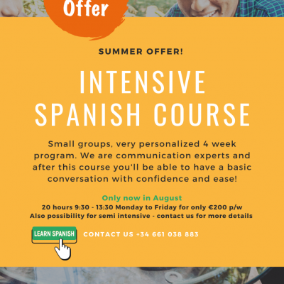 Linguanet Javea now offers an Intensive course to spice up your Spanish!
