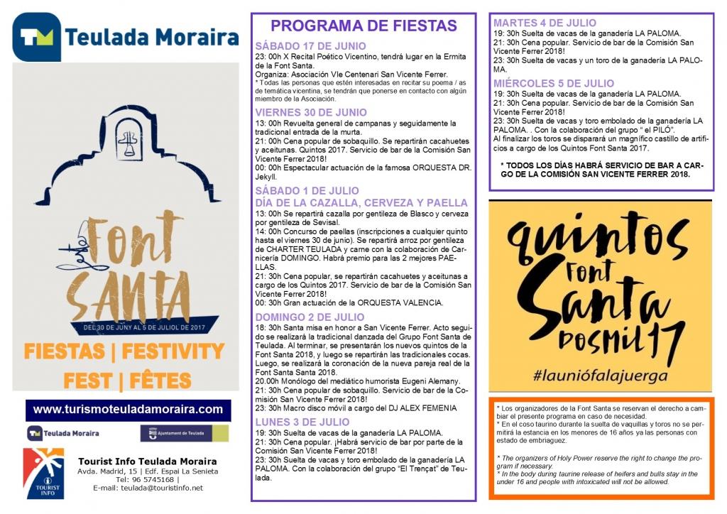 """Fiestas in Moraira: """"La Font Santa"""" (June/July 2019)"""