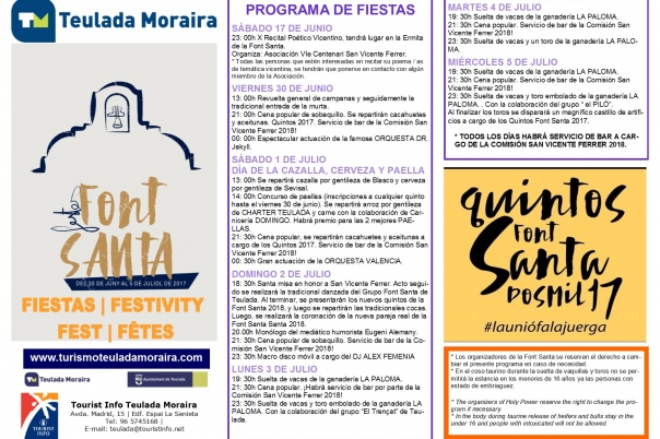 """Fiestas in Moraira: """"La Font Santa"""" (June/July 2020)"""