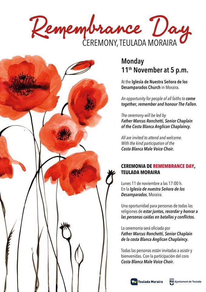 Remembrance Day Ceremony (Moraira)