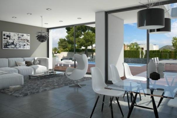 3 bed  new build villas in Moraira