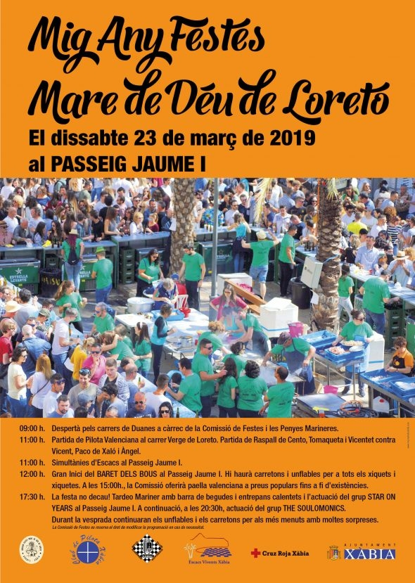 "Fiestas in Javea: Half-Year ""Mare de Deu de Loreto"" (March 2019)"