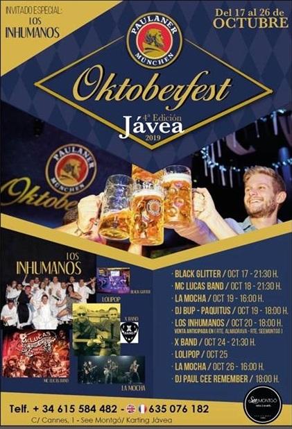 Festivals in Javea: Oktoberfest Javea (October 2019)