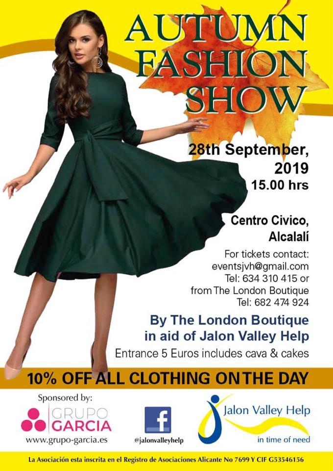 Charity Events: Autumn Fashion Show in aid of Jalon Valley Help