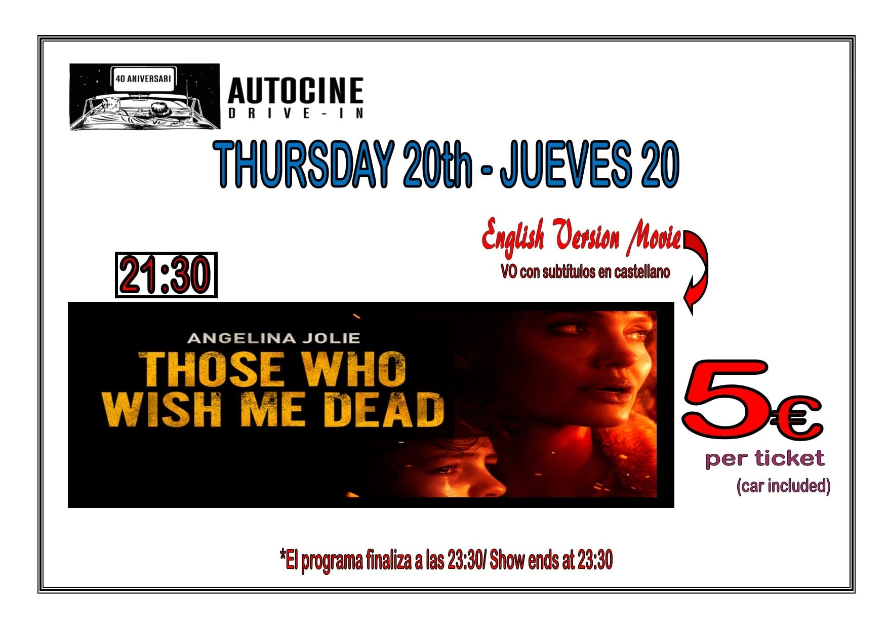 Cinema listings: Auto Cine Drive in (English)
