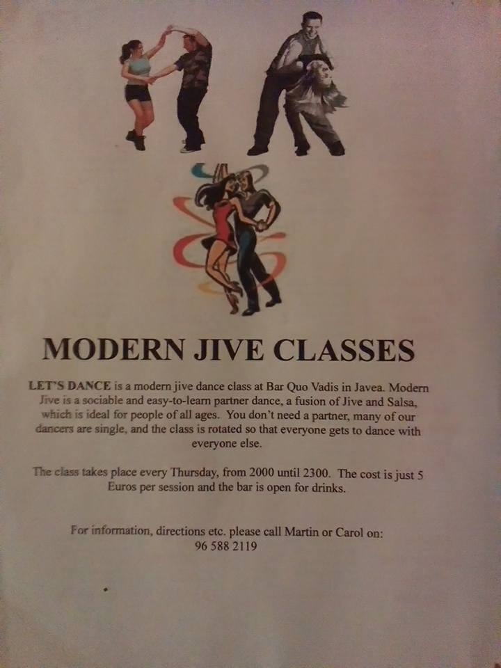 Dancing: Modern Jive Classes at Quo Vadis
