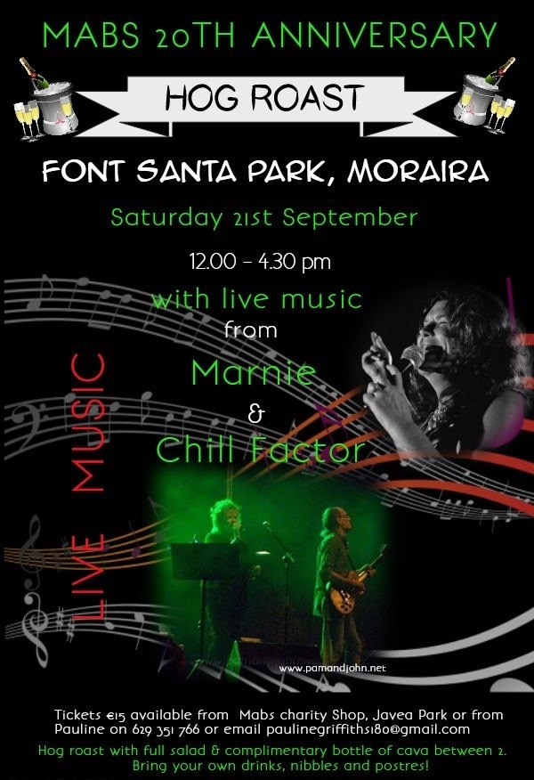 Charity Events: MABS 20th Anniversary HOG ROAST at Font Santa Park in Moraira