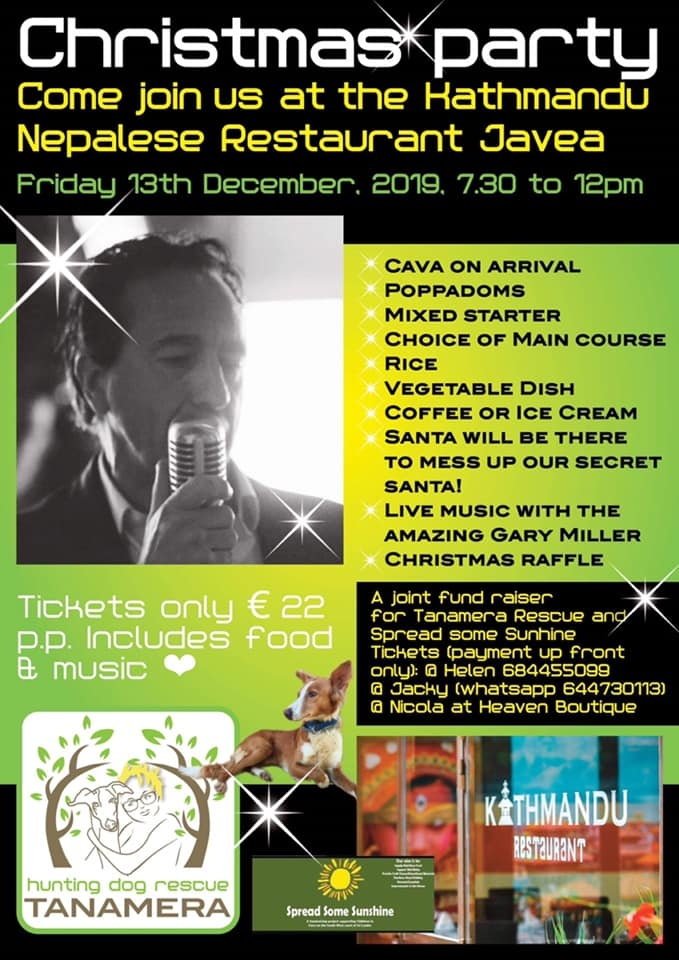 Charity Events in Javea: Christmas Party at the Kathmandu Restaurant