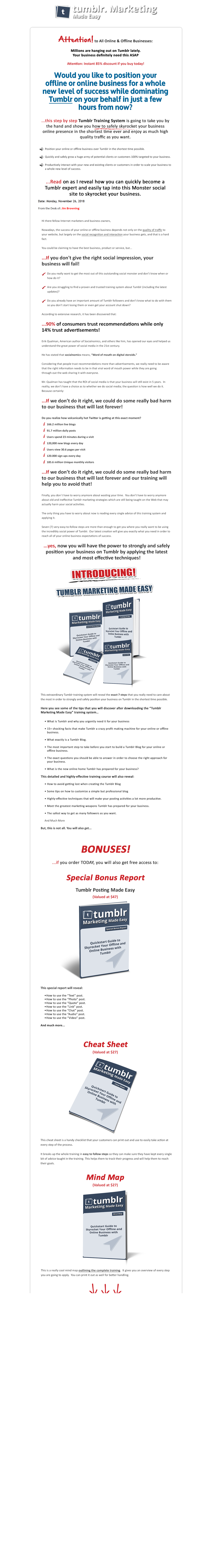tumblr marketing made easy plr download store