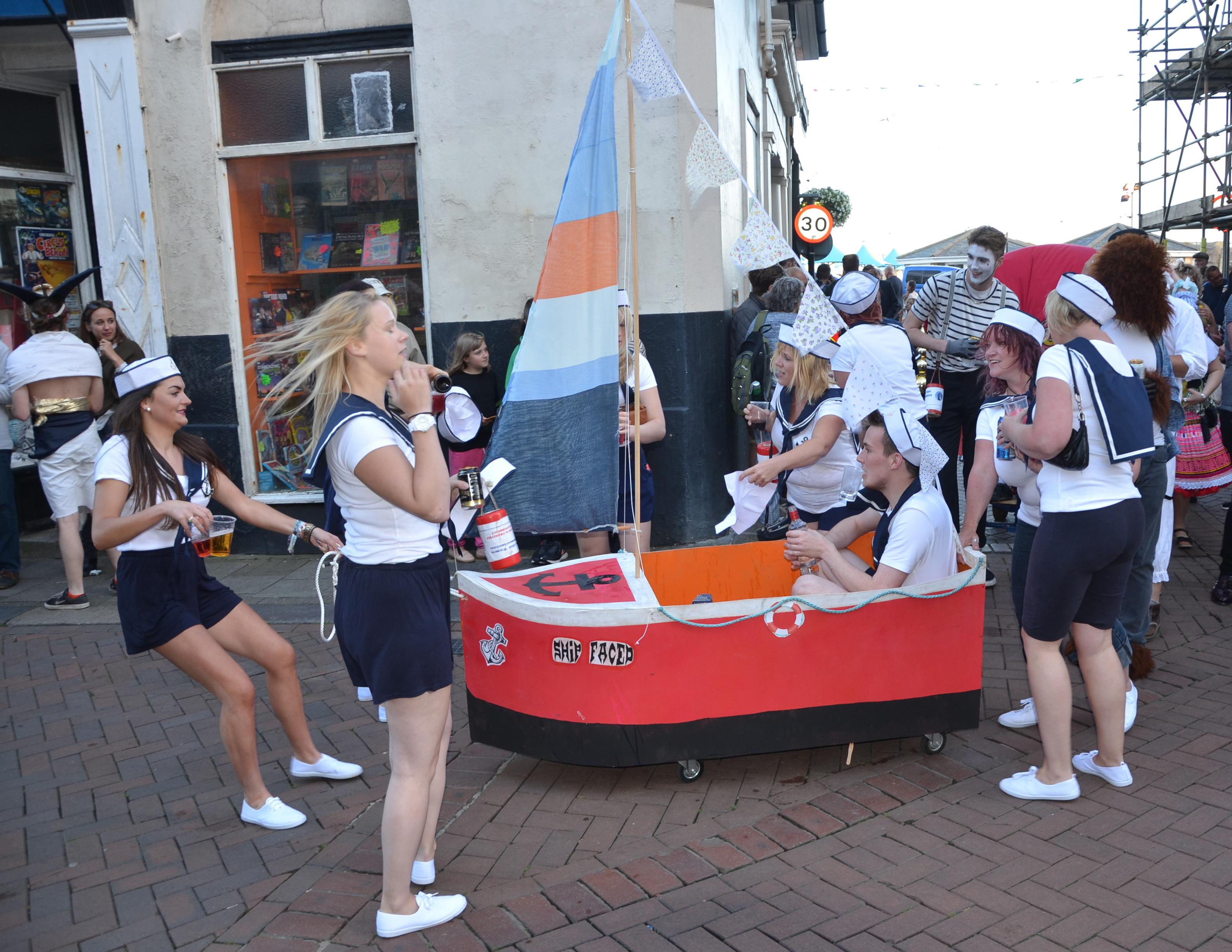 "Get your team together for a great night (with decorated pram, of course!) that's often described as one of the best in Old Town Week!  <div class=""alert alert-warning"" role=""alert"">Register at The Cutter Pub, on the seafront opposite the boating lake, <strong>by 6pm on Tuesday 1st August</strong></div>  Lots of money is raised for local charities by the teams who enter in this pub crawl.  Each team has their own theme and they decorate their pram and teams accordingly.    Due to the ever increasing size of this event, all teams must now be entered by 6pm on Tuesday 1st August at The Cutter Pub.    To be considered for judging, teams must arrive by 7pm, with the start time of the race to be between 7.30-8pm.    <div class=""alert alert-warning"" role=""alert"">This is a strictly over 18's event.  </div>  Any questions please call 01424-272099. Proceeds to H.O.T.Carnival Association."