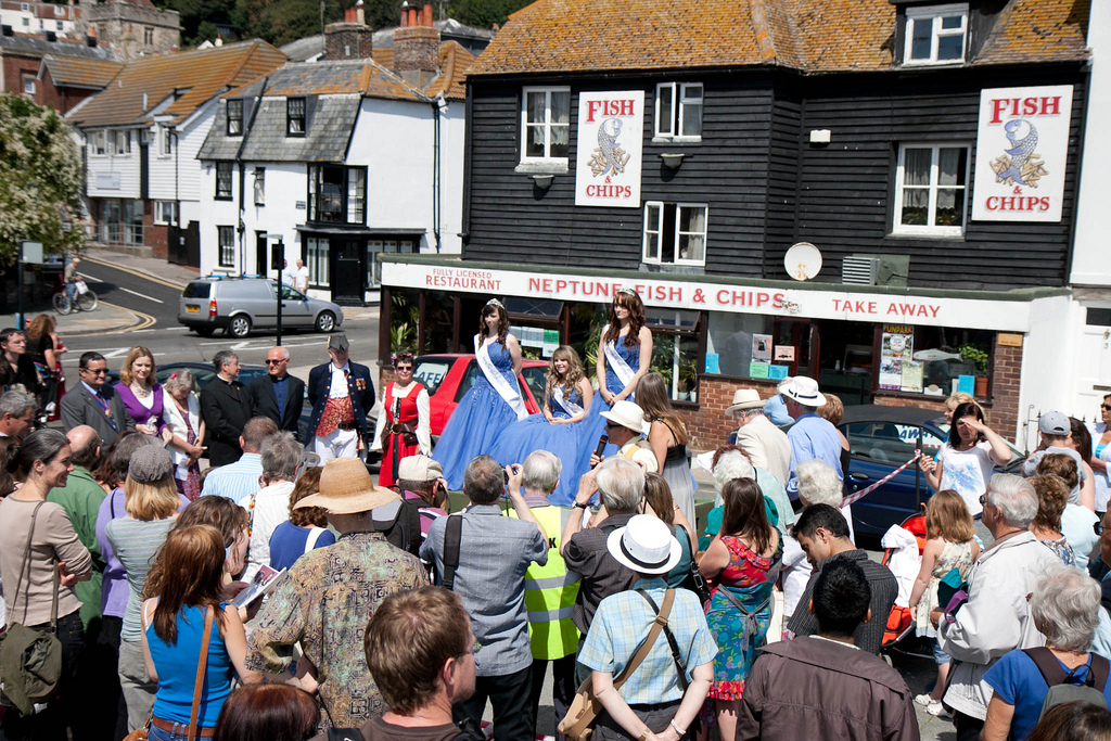 "A group of local dignitaries will assemble at the flagstaff the union flag and will be raised and Hastings Old Town Carnival Week declared ""Open"".   A VIP will the open the exhibition at the Museum 'Today's Fishermen of The Stade, Hastings' a photographic exhibition by Ann Chown.  Entrance free donations welcome. Wheelchair accessible."