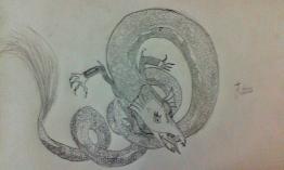 Sea serpent or dragon