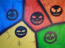 Colored pumpkin !