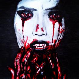 Bloody vampire Halloween
