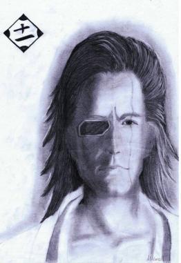 Zaraki Kenpachi(Bleach Realsim)Graphite Portrait