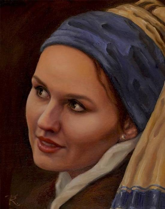 GIRL WITH A PEARL EARRING (INSPIRED BY JOHANNES VE