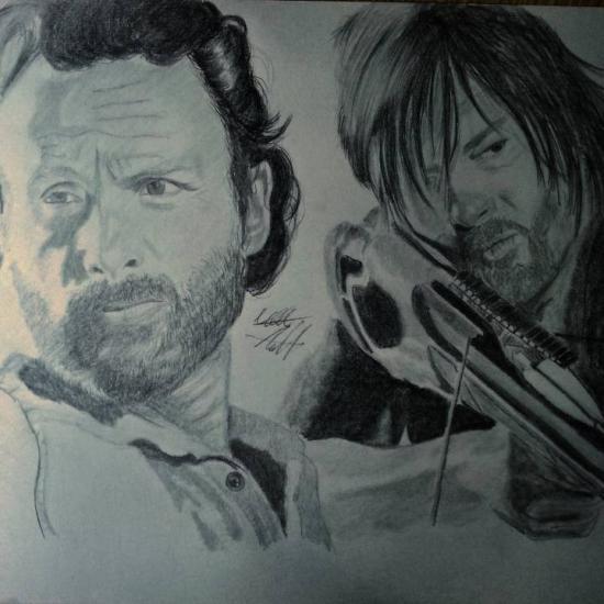 Walking dead Rick & Darryl