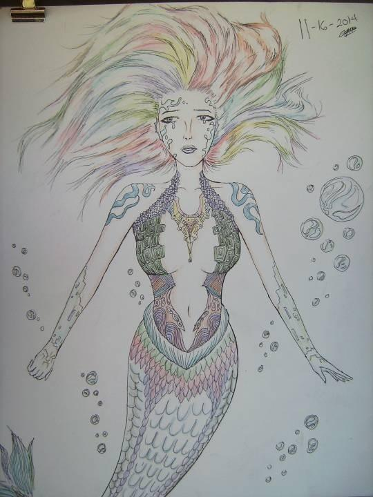 The confuse affection mermaid